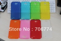 New Clear TPU Gel skin case cover for Samsung Galaxy Note 2 Note2 N7100 New 500pcs/lot DHL Free Shipping