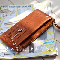 2012 spring long design multi card holder cowhide wallet general tough