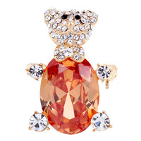 Christmas mewox zircon brooch bear women's brooch