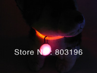 Free Shipping 5PCS/Lot LED Dog Pendants for collar Dog Tag Dog Charm Pet Pendant 8 Colors