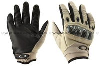 O Tactical Full Finger PU Leather Gloves (Tan) free ship