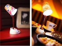 2pcs/Lot Novelty DIY LED Night Lamp Table Home Decoration Romantic Coffee Usb Or Battery Promotion Gifts Free shipping
