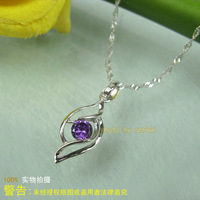 Accessories jewelry 925 pure silver platinum necklace pendant Women silver f2