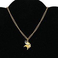 Minnesota Vikings Ladies BFF Logo Necklace - Gold-Toned