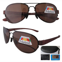 Free shipping R11021 patent polarized bifocal sunglasses brown aviator readers  +1.00--+3.00