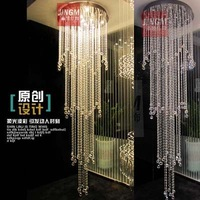 Crystal League lighting crystal lamp crystal chandelier stairs lamp minimalist staircase chandelier stairs lamp chandelier