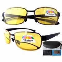 Free shipping R11028 night vision yellow lens polarized bifocal glasses sunglasses +1.5 +2.0 +2.5