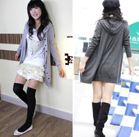 2012 autumn long-sleeve medium-long loose sweater female cardigan autumn and winter knitted outerwear
