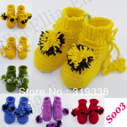 Baby shoes booties boy girl first walker Knitted Crochet Pattern PDF baby Handmade Slippers for summr winter(China (Mainland))