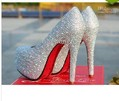 wedding shoes crystal shoes women high heels rhinestone high heel shoes platform pumps