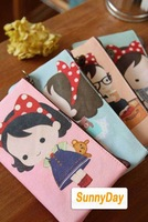 Free shipping/New sweet michelle girl fabric pencil bag/cotton bag / pencil pouch/pen bag