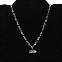 Seattle Seahawks Ladies BFF Logo Necklace - Silvertoned