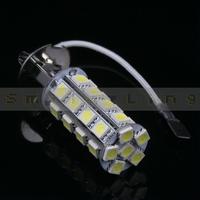 2 pcs H3 5050 SMD 30 Car LED White/ Warm White Fog Light,Side Marker Lamps,Backup lights Bulb DC 12V , Free Shipping!