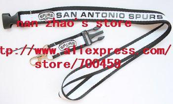 New Lot 10pcs SAN ANTONIO SPURS Football Phone Lanyard Key Chain Neck Strap team lanyard
