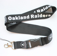 New Lot 120pcs OAKIAND RAIDER sport Lanyard for MP3/4 cell phone/ key /Neck Strap Lanyard WHOLESALE Free shipping