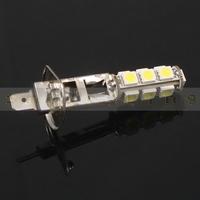 2 pcs H1 5050 SMD 13 Car LED White/ Warm White Light Headlight Lamp Bulb,Side marker and Backup lights DC 12V Free Shipping!