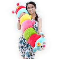 Birthday gift ultralarge multicolour caterpillar doll pillow plush toy