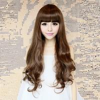 Sweet wig long roll bulkness matt long curly hair big wave