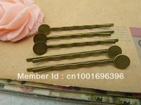 Diy handmade materials vintage antique ancient bronze hairpin - - 8mm lug g50-3 50mm 50 5