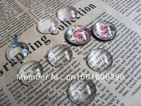 50pcs/lot Wholesale clear glass cabochons tray pendant cover 20mm Round Cabochons