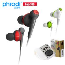 Free shipping Phrodi pod-100 surround sound earphones music earphone mp3 headset mp4 heaphone(China (Mainland))