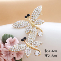 Gold-plated rhinestone brooches dragonfly brooch fashion to send his girlfriend to restore ancient ways animals