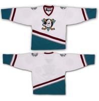 Blank The mighty ducks of Anaheim Hockey Jersey White All stitch Sewn