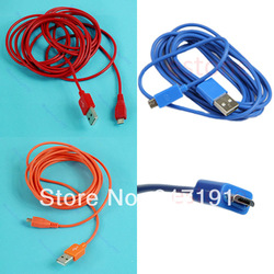 Free Shipping High Speed Universal 2M Micro USB Data To Mini Charging Cable Line Fr Cell Phone 3pcs/lot(China (Mainland))