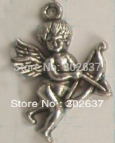 FREE SHIPPING 70PCS Tibetan silver cupid charms A12825