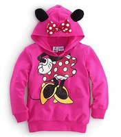 Hotsell baby boy's and girl's mickey minnie jeacket sweatshirt, two design baby nice coat kid's wear,freeshipping
