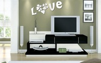 Love Background wall three-dimensional relief crystal wall decoration love 045 tv sofa