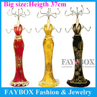 Big size,37cm high,Luxury evening dress style jewelry display stand shelf organizer