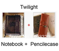 Lovely set 2012/2013/2014 Free shipping hot sale Twilight New Moon notebook+pencile case/bag