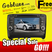 Free shipping & Special Car DVD player head unit For Audi TT with 3G USB GPS navigation Radio TV Bluetooth Ipod