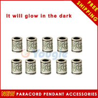 10 pcs/Lot Six-word Momoir Knife Flashlight Paracord GITD Accessories Pendant
