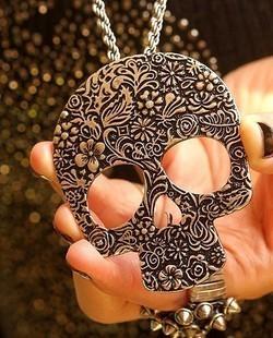 wholesale vintage gothic skull necklace XL025