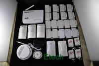 EMS Free Ship 18pcs Door Sensos GSM Wireless Home Security System Alarm Auto-dail S208