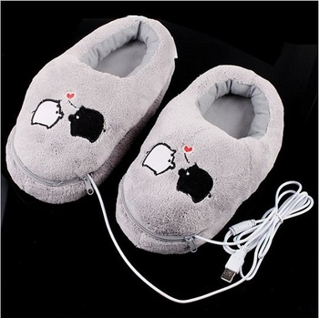 Cute Piggy Plush USB Foot Warmer Shoes Electric Heat Slipper, Free Shipping+Drop Shipping