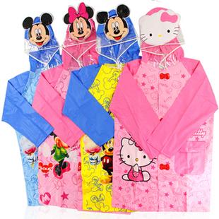 Hello kitty waterproof children raincoat outdoor rainwear kid's poncho baby rainproof rain cape raingear free shipping