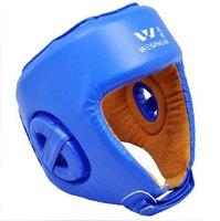 Free Shipping jiurishan Boxing / MMA / Muay Thai / Martial Art /taekwondo/Sparring Headguard Protector blue
