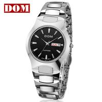 Commercial Tungsten watch ultra-thin mens 200m waterproof HK brand DOM business watch of fashion calendar week table wathch