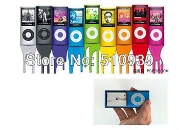 "free dropshipping Slim 4TH 1.8""LCD MP3/MP4 speaker Video Radio FM Player Support 2GB 4GB 8GB 16GB SD TF Memory Card 1pcs/lot"