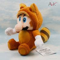 New Super Mario Brothers Plush Raccoon Tanooki Mario 8 Inch Toy