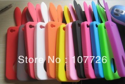 10pcs/lot Bunny Rabit Silicone Case Skin for Iphone 4 Stand Tail Holder(China (Mainland))