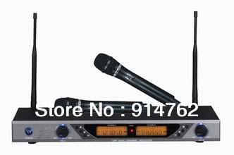 Pro Dual Wireless Cordless DJ Karaoke Public Address PA Mic Microphone System G-AP3000(China (Mainland))