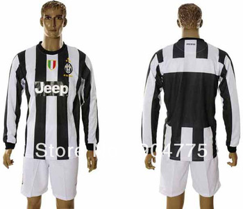2012 2013 Juventus football club t shirt full sleeve home soccer training suit embroidery brand name jersey cloth Free Shipping