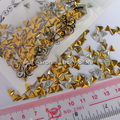 Triangle diy acrylic 3d metal nail art decorations rhinestone Metallic Nail Studs Gold And Silver Optional Drop shipping