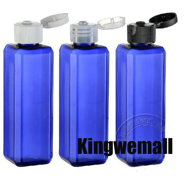 ... -shipping-300PCS-lot-100ML-plastic-square-lotion-shampoo-bottle