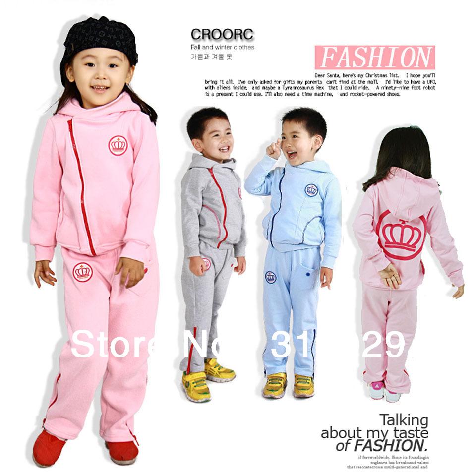 Kids suits more colors designs 2pcs set fashion baby cloth tracksuit