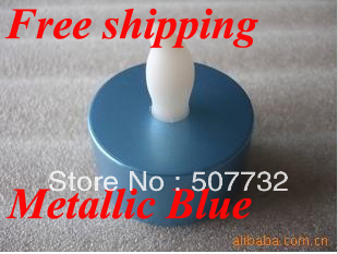 Free shipping 2013 New Year Decoration flameless Metallic Blue Base LED Tea Lights, flickering led candle light+1000pcs/lot